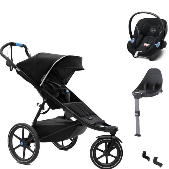 THULE URBAN GLIDE 2 WITH CYBEX ATON M AND BASE M