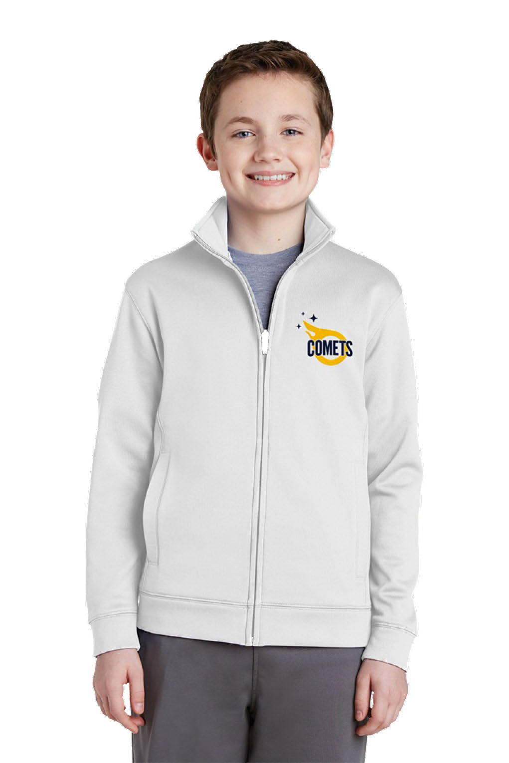 Sport-Tek Youth Sport-Wick  Fleece Full-Zip Jacket