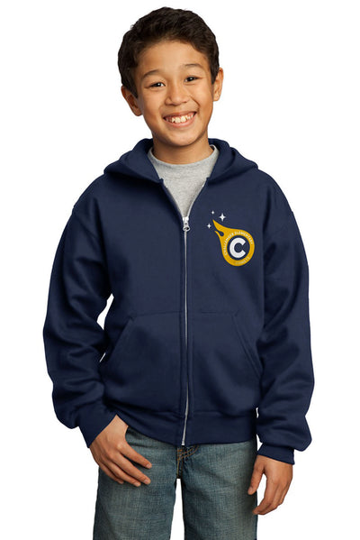 Port & Company Full-Zip Fleece Hoodie (Youth)