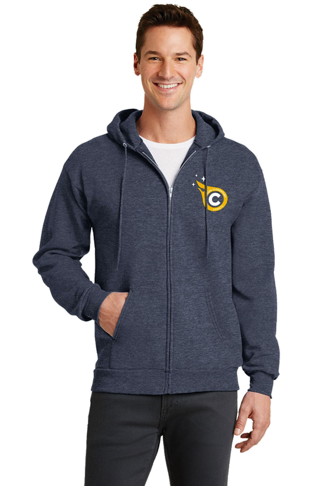 Port & Company Full-zip Fleece Hoodie (Adult)