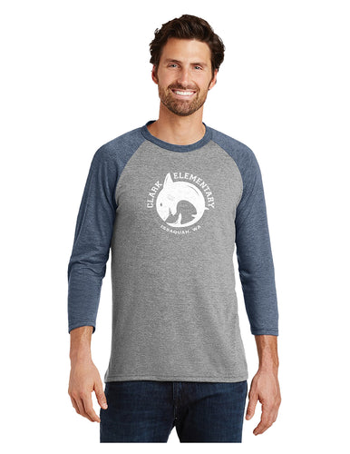 District - Perfect Tri 3/4-Sleeve Raglan (Adult)
