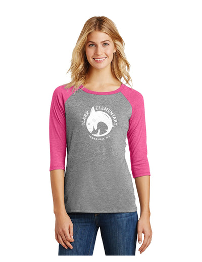 District - Perfect Tri 3/4-Sleeve Raglan (Ladies)