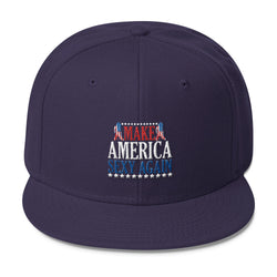 Make America Sexy Again Wool Blend Snapback