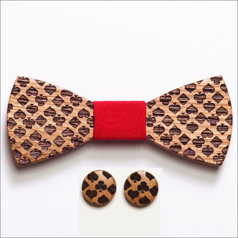 Kenneth Howell Wooden Bow Tie + Cufflinks - Patore' UK - Wooden Bow Ties