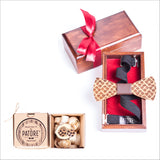 Thomas Maynard Wooden Bow Tie + Cufflinks - Patore' UK - Wooden Bow Ties