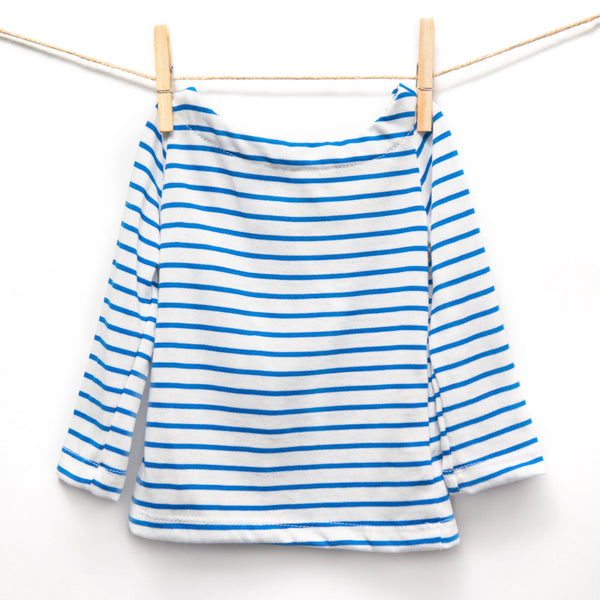 Top Unico - Blue/white stripes