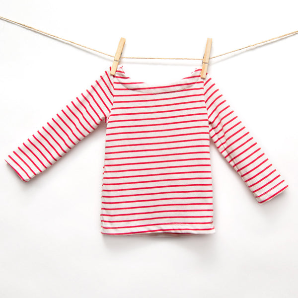 Top Unico - Red/white stripes