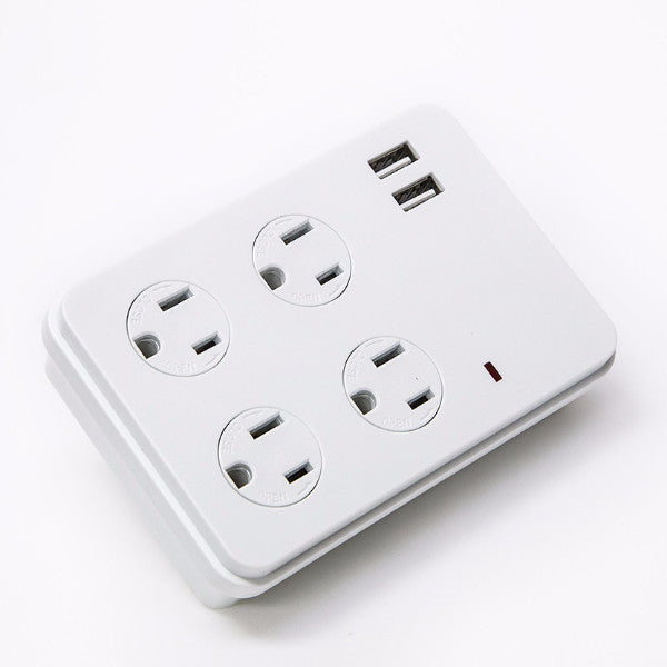 FOR JERRY C — 6, 4-Outlet Surge Protected Wall Plug with 2 USB Charging Ports