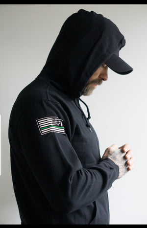 The Thin Green Line zip up