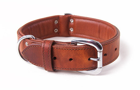 Collar dog Genuine brown