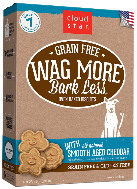 Cloud Star Wag More Bark Less Oven-Baked Grain Free: Smooth aged cheddar