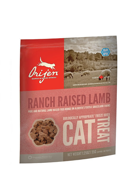 Orijen freeze dried cat treats Ranch raised lamb