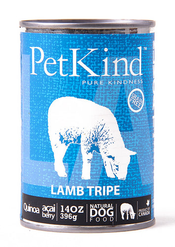 Petkind canned food dogs lamb tripe, panse agneau, conserve nourriture