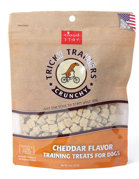 Cloud Star Tricky Trainers crunchy training treats for dogs – Cheddar