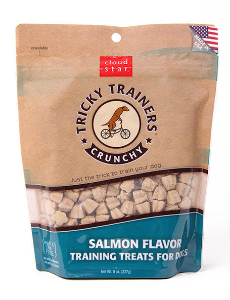 Cloud Star Tricky Trainers crunchy training treats for dogs - Salmon