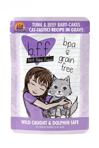 Weruva b.f.f. Best feline friend cat food - Tuna & Beef baby-cakes