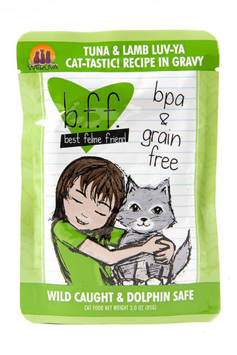 Weruva b.f.f. Best feline friend cat food - Tuna & Saumon Lamb Luv-Ya