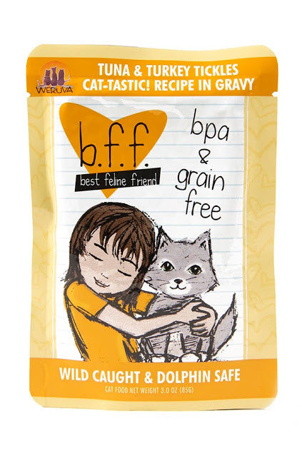 Weruva b.f.f. Best feline friend cat food - Tuna & Turkey Tickles