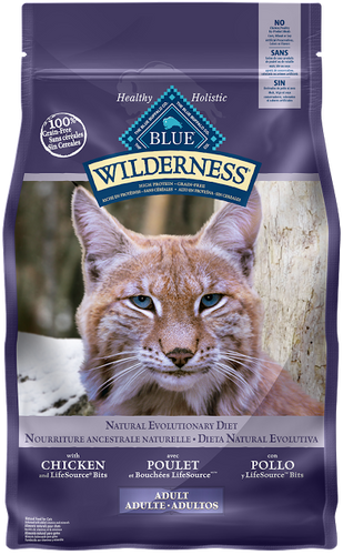 BLUE Wilderness® high protein & grain free cat food - Chicken recipe
