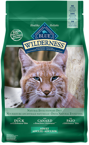 BLUE Wilderness® high protein & grain free cat food - Duck recipe