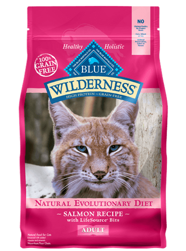 BLUE Wilderness® high protein & grain free cat food - Salmon recipe