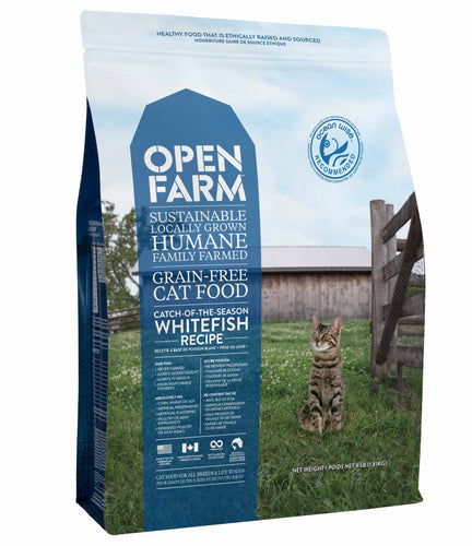OPEN FARM grain free cat food - Catch of the season whitefish recipe