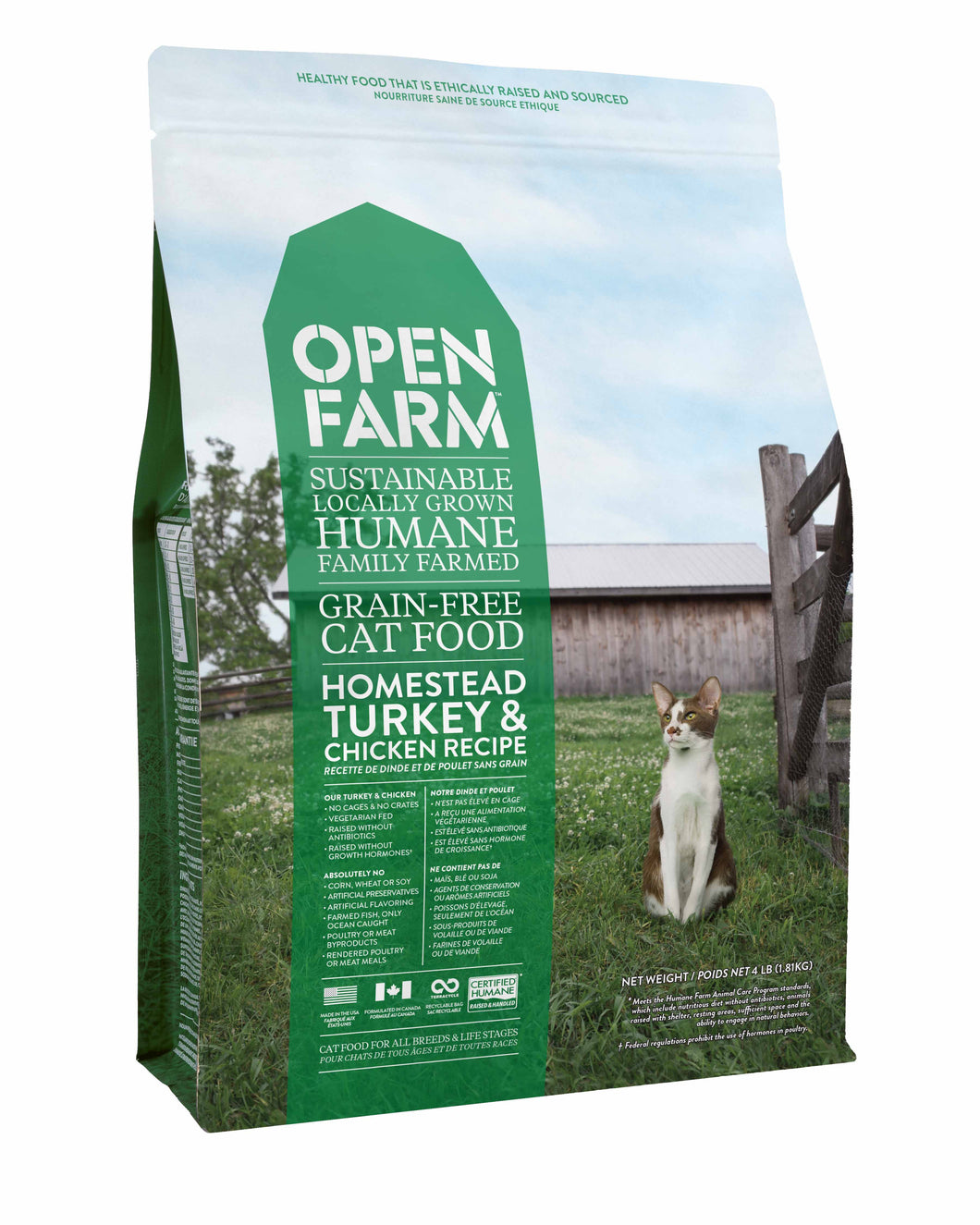 Open Farm grain free cat food - Homestead turkey and chicken recipe