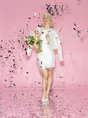 Genevieve Rose Bridal Pillbox Hat in vogue.com Wedding Style Guide 2014