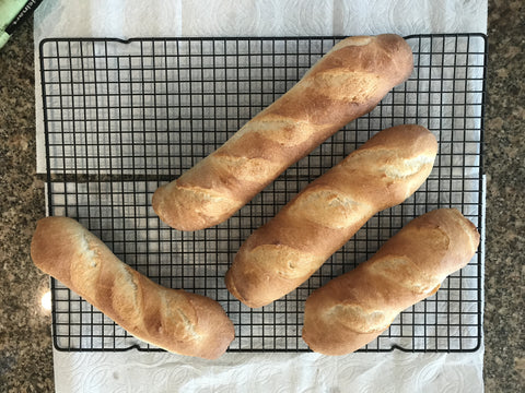 artisan bread baguettes at home