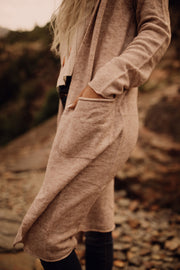 Ultra Soft Hoodie Duster in Oatmeal