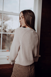 Leanna Blush Ruffle Sweater