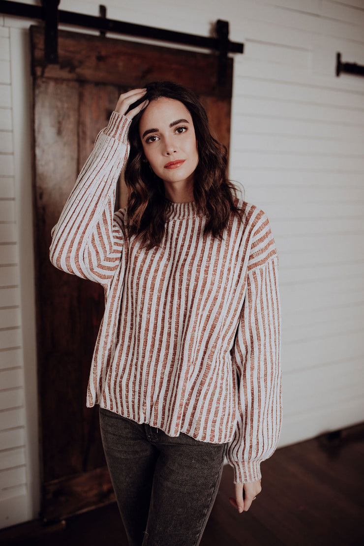 Luz Caramel Striped Sweater