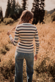Laurel Striped Ribbed Sweater