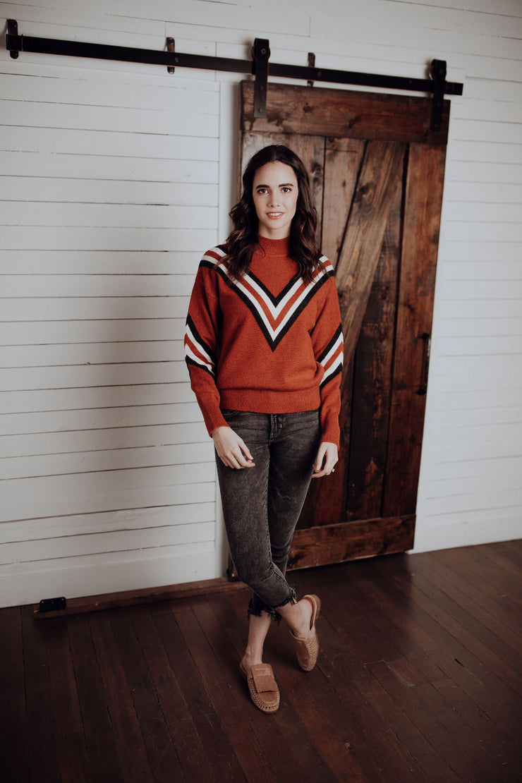 Renata Chevron Sweater