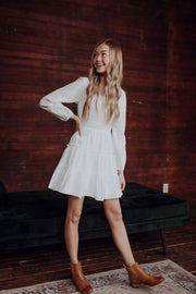 White Mini Eyelet Dress