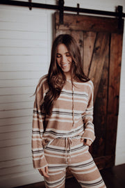 Brees Striped Lounge Top
