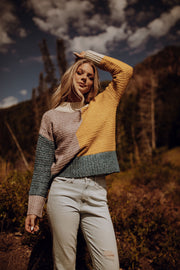 Mauve Colorblock Sweater