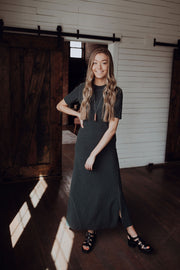 Forest Green Knit Maxi Dress
