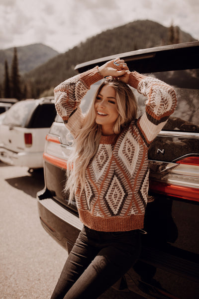Diamond Chunky Knit Sweater