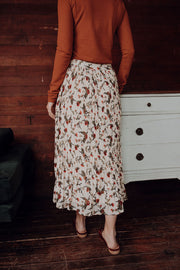 Milana Pleated Floral Skirt