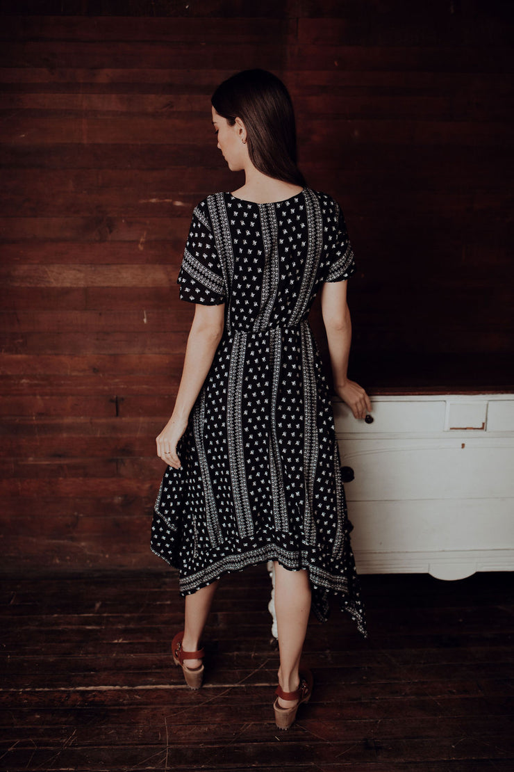 Willow Handkerchief Hem Dress