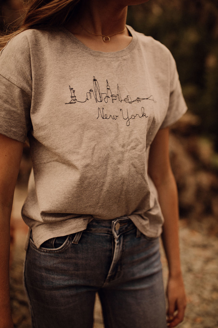 New York Embroidered Tee