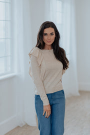 Nancy Ruffle Sweater