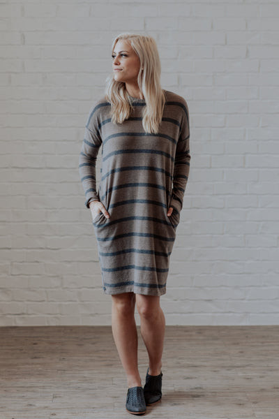 Emerson Ultra Soft Midi Dress Shop Emma Lou