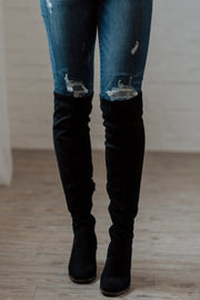 Kacey Black Over the Knee Boots Shop Emma Lou