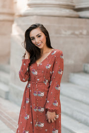 Magnolia Button Up Midi Dress
