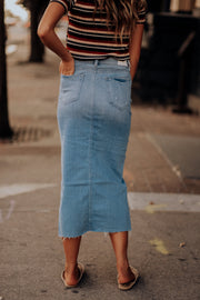 Ellen Denim Maxi Skirt
