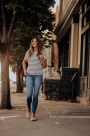 Easton Polka Dot Striped Tee