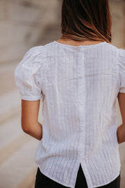 Caprice Button Back Blouse