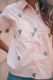 Darby Embroidered Cactus Blouse